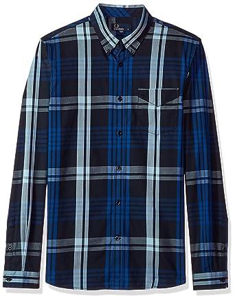 f1cc1b23 Amazon.com: Fred Perry Men's Twill Check Shirt: Clothing