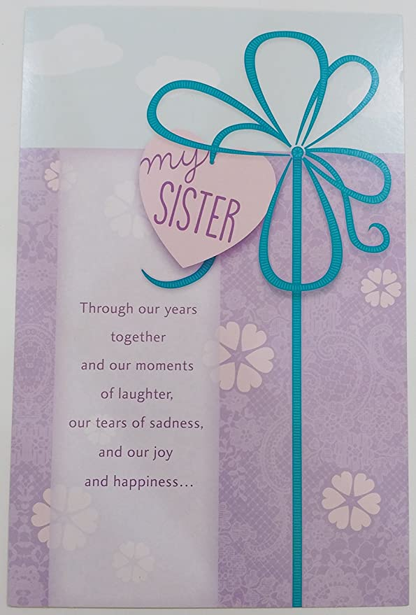 Amazon.com: Para mi hermana – Tarjeta de felicitación de ...