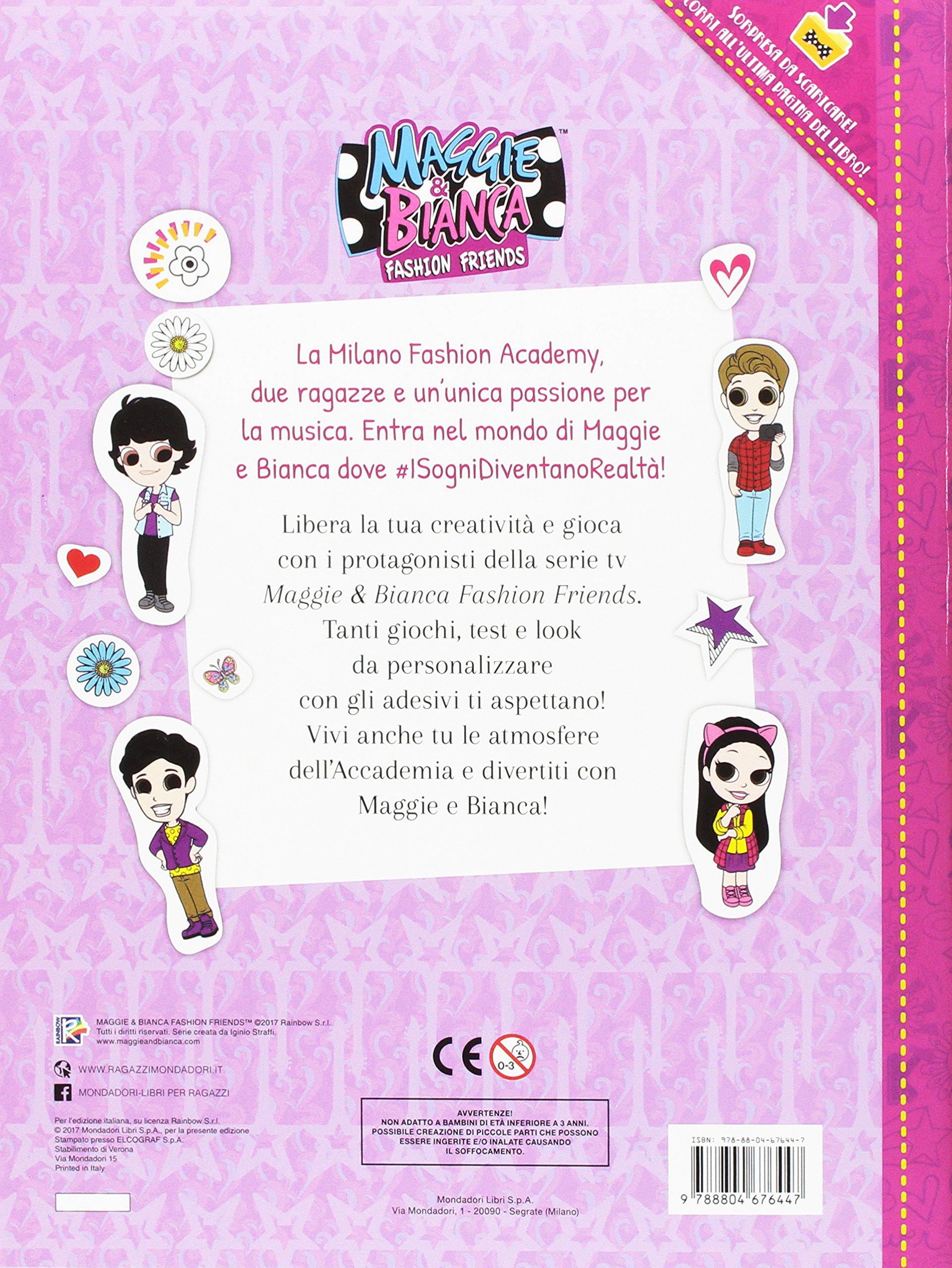 Il Libro Creativo Maggie Bianca Fashion Friends Con Adesivi