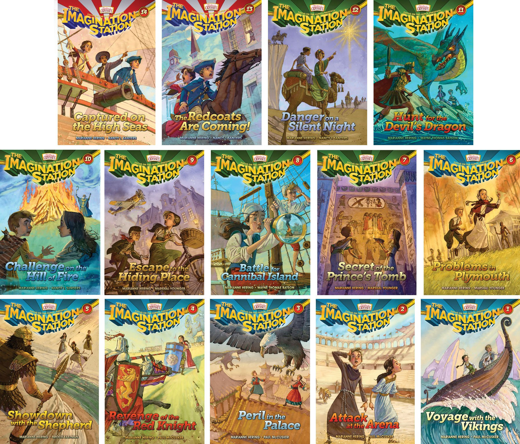 Read Online Imagination Station Series - Adventures in Odyssey - Set of 14 - Volumes #1-14 Including Captured on the High Seas, the Redcoats Are Coming, Danger on a Silent Night, Hunt for the Devil's Dragon, Challenge on the Hill of Fire and More ebook