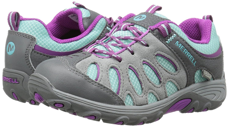 Merrell Little Kid Chameleon Low WT Hiking shoe Grey Big Kid Green