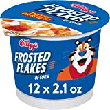 Kellogg's Breakfast Cereal in a Cup, Frosted Flakes, Fat-Free, Single Serve, 2.1 oz Cup(Pack of 12)