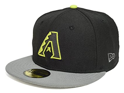 Amazon.com   New Era 59FIFTY Arizona Diamondbacks Black Grey Fitted ... ea906b842