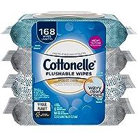 Cottonelle Fresh Care Flushable Cleansing Cloths Bundle, 168 Count, Pack of 4