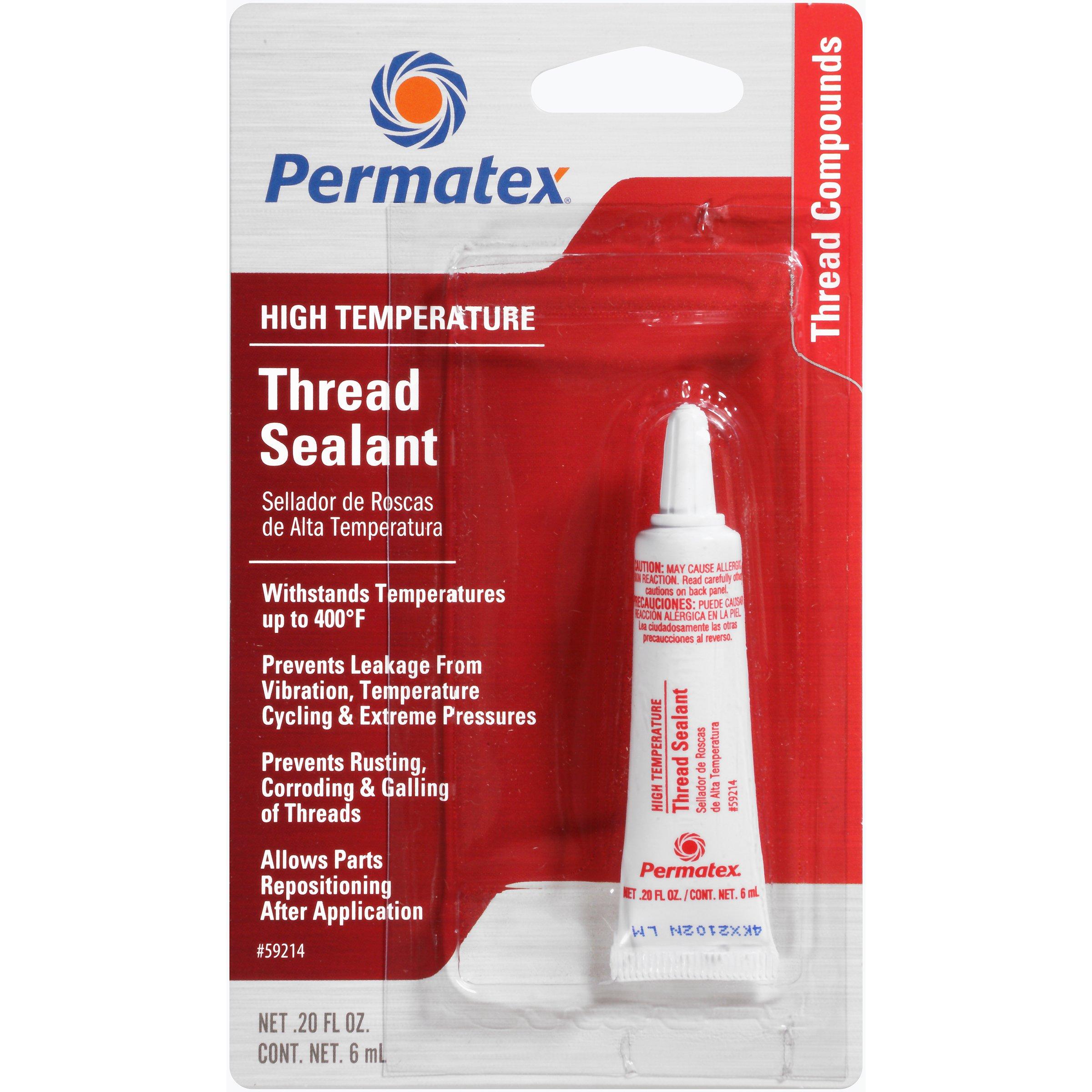 Permatex 59214-12PK High Temperature Thread Sealant, 6 ml (Pack of 12) by Permatex