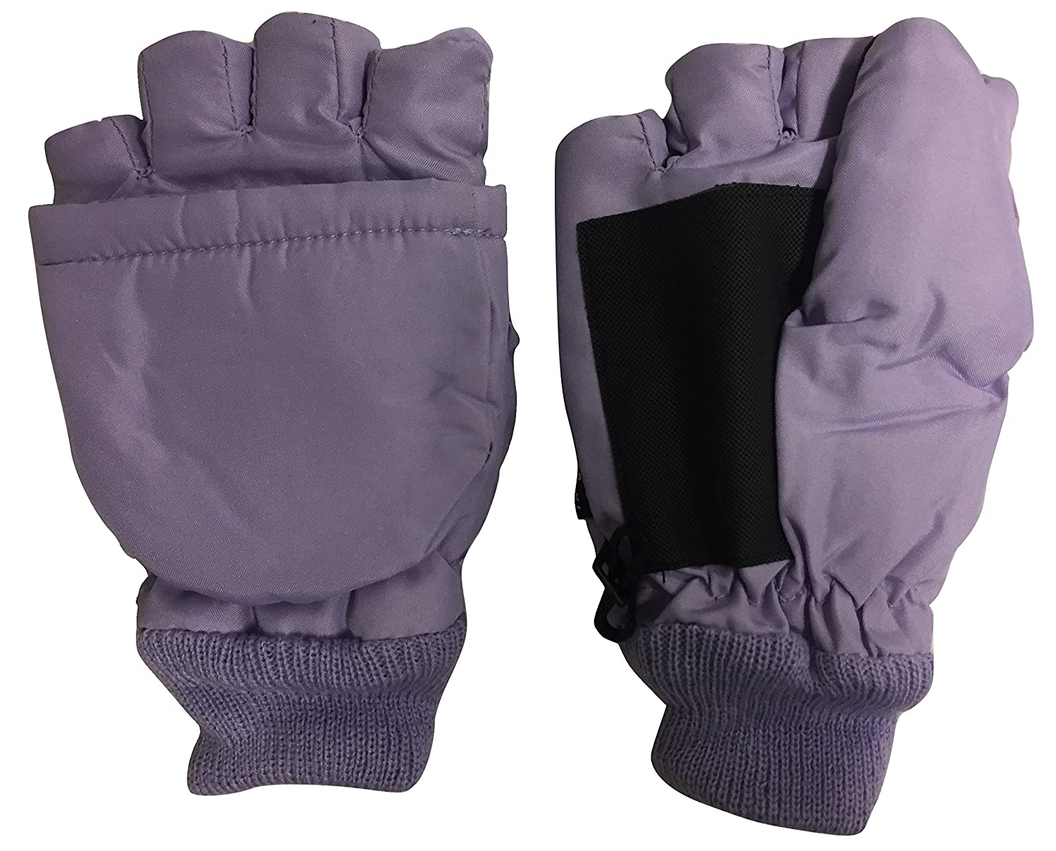 Thinsulate Youth Winter Paradise Convertible Fingerless Gloves with Mitten Cover Purple)