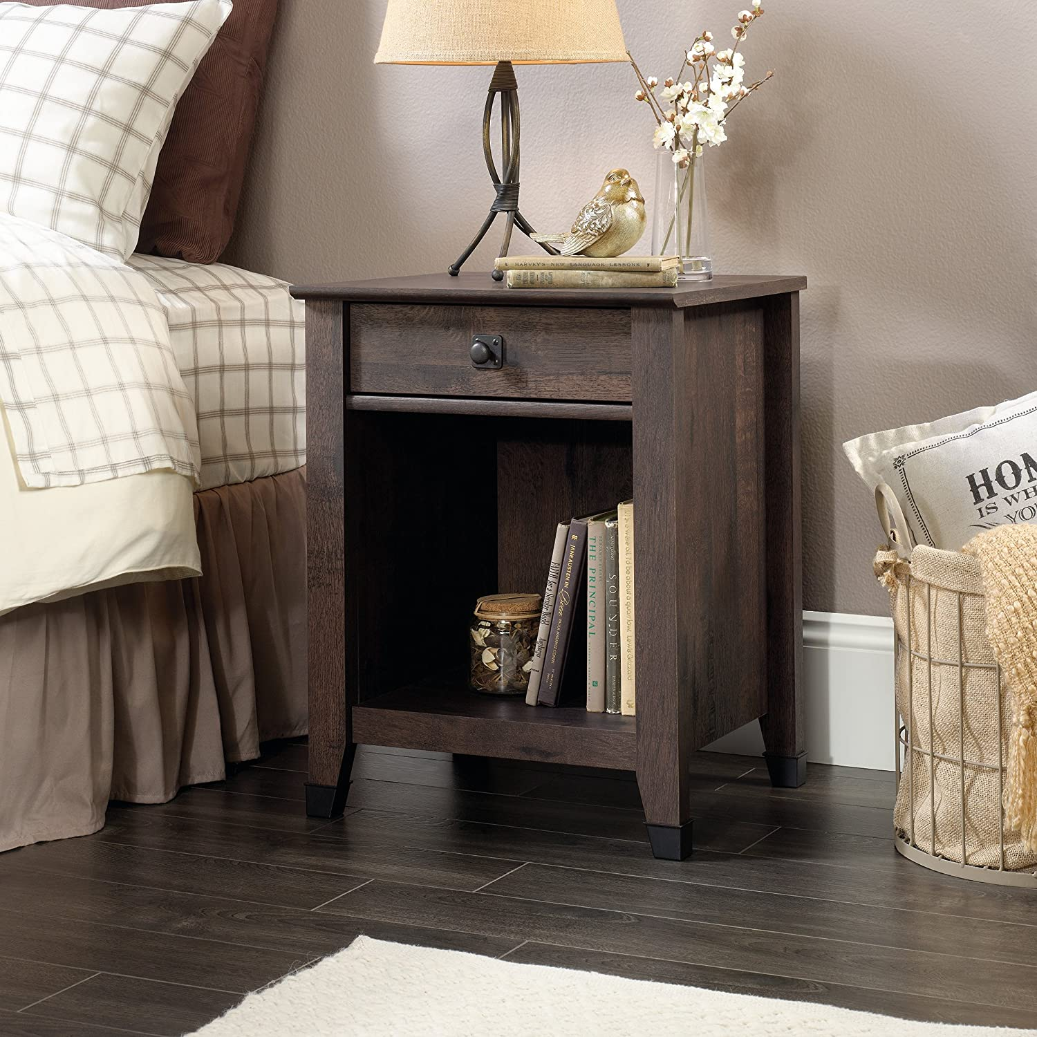 Sauder Carson Forge Night Stand WC Red