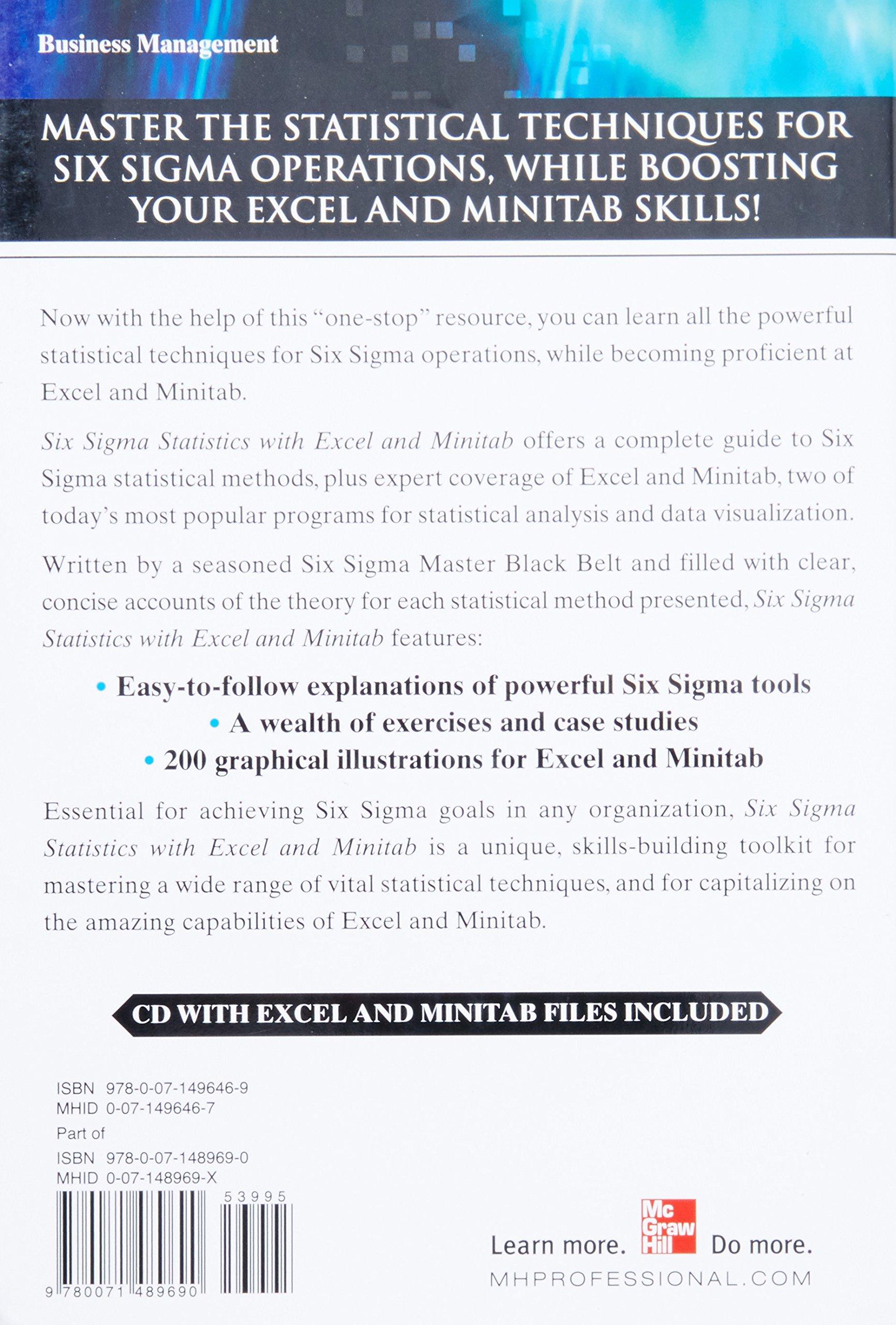 Six sigma statistics with excel and minitab issa bass six sigma statistics with excel and minitab issa bass 9780071489690 books amazon nvjuhfo Images