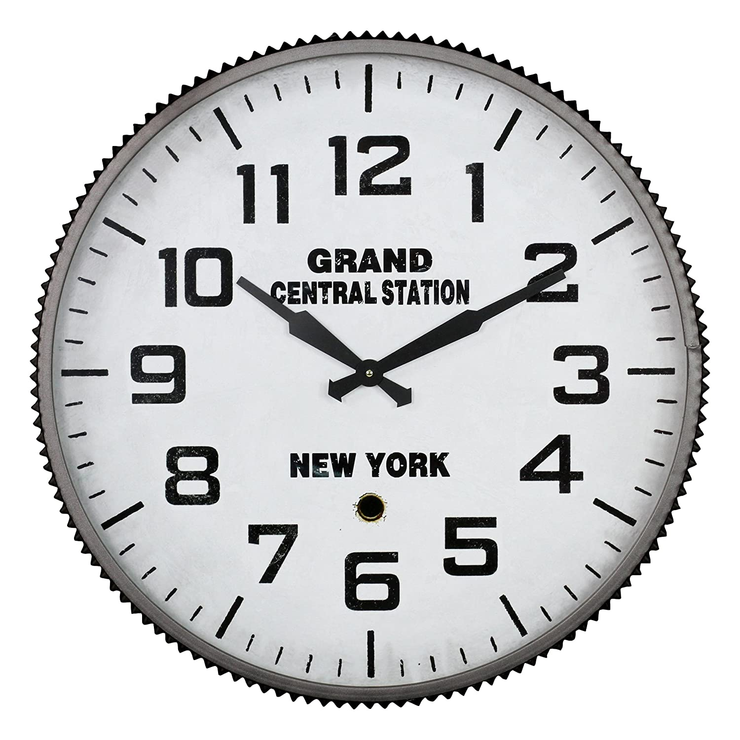 Amazon aspire wall clock grand central station gray home amazon aspire wall clock grand central station gray home kitchen amipublicfo Choice Image