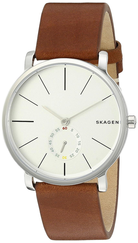659f8adaa7 Amazon.com  Skagen Men s SKW6273 Hagen Dark Brown Leather Watch  Skagen   Watches