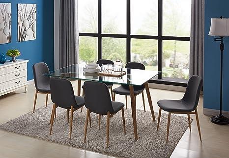 Sedie Sala Da Pranzo Ecopelle : Ebs sedia da pranzo set di sedie e tavolo di moda ecopelle sala