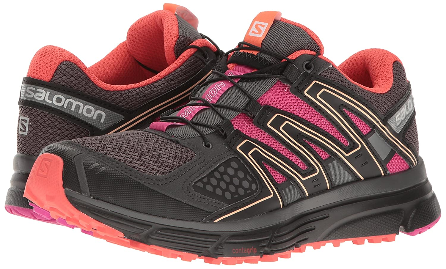Salomon Women's X-Mission 3 US|Magnet/Black/Rose W-w B01HD21LJ6 8.5 B(M) US|Magnet/Black/Rose 3 Violet bf0504