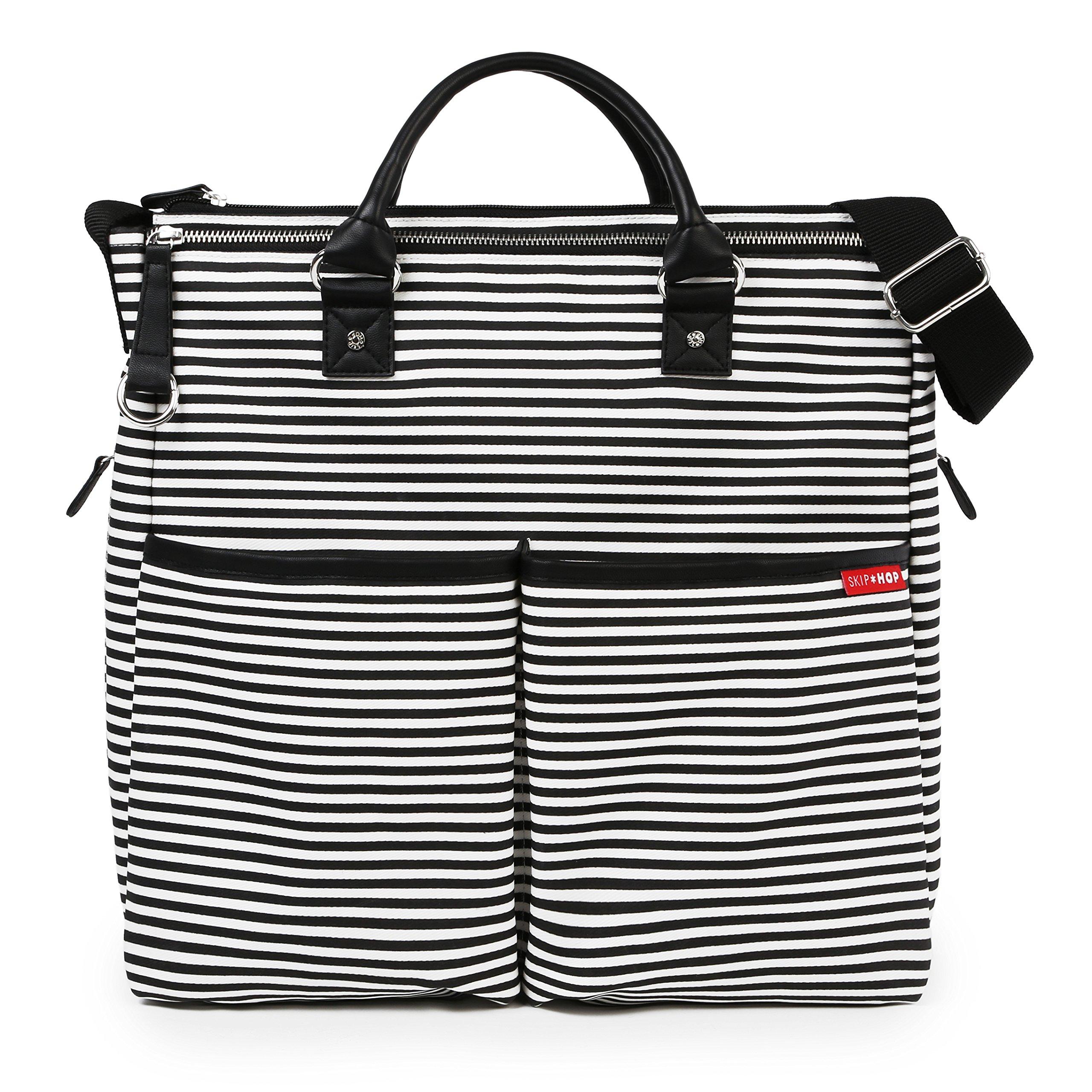 Skip Hop Duo Bolso cambiador de edición especial, diseño de rayas Black Stripe product image