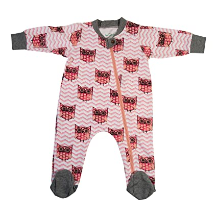 5577c4ff0 Fab-ganics Organic Cotton Baby Girls Romper Pajama Sleeper-full ...