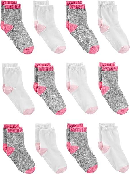Simple Joys by Carters Pack de 12 calcetines para bebés y niñas pequeñas: Amazon.es: Ropa y accesorios