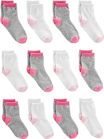 Simple Joys by Carter's 12-Pack Sock Crew Unisex niños, Pack de 12