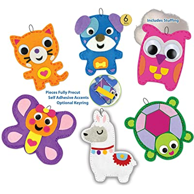 DIY Kit My First Sewing Kit for Kids Girls Boys Preschool Sewing Kits Projects Animal Sewing Kits for Kids Craft Kits for Kids Sewing Kit Art Projects for Kids Felt Animals Sewing for Beginners 6 Pk: Toys & Games