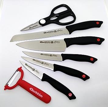 DELICE Juego de 7 pz. cuchillos Chef de cocina Quttin Delice ...