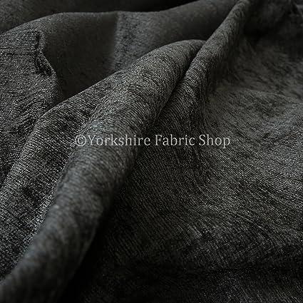 Telas para tapicería chenilla suave Material con luces Gris ...