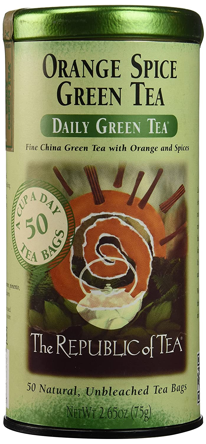The Republic of Tea, Orange Spice Green Tea, 50-Count