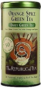 The Republic of Tea, Orange Spice Green Tea, 50-Count