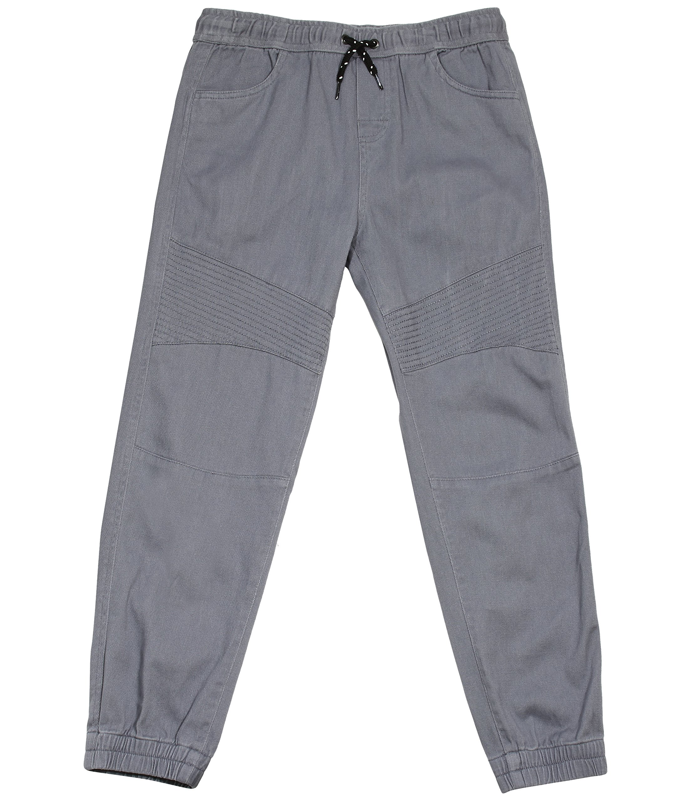 Tony Hawk Kids Boys Cotton Stretch Twill Jogger Pants with Drawstring and Pockets School Clothes Pants