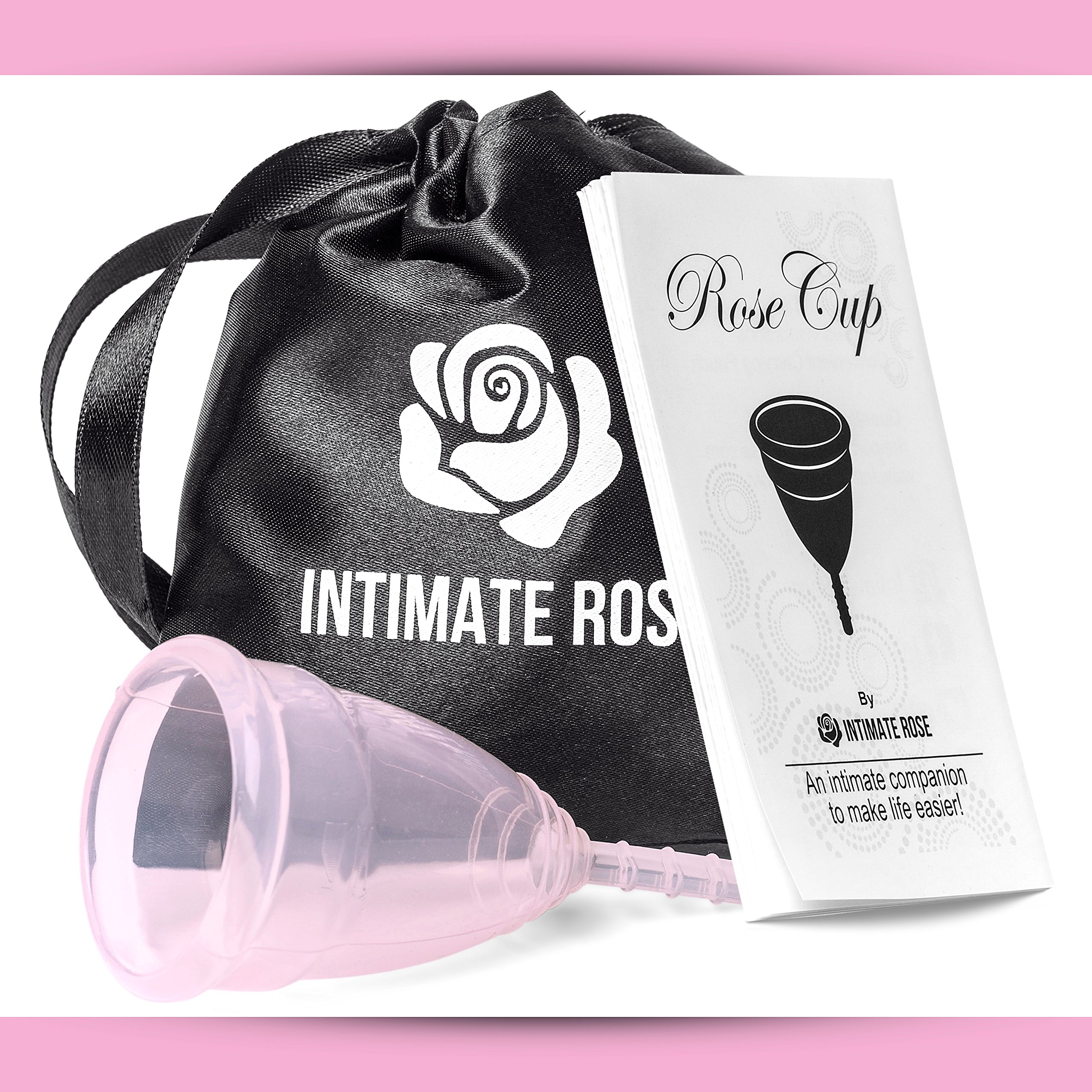 Intimate Rose Menstrual Cup Is Perfect For Beginners - 12 Hour Period Protection With FDA Approved Silicone - More Comfortable Than Others - Eco-Friendly Alternative to Pads & Tampons