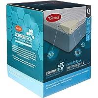 Tontine Comfortech Memory Foam Mattress Topper, Queen, White