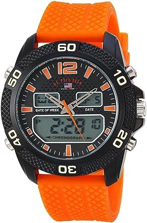 U.S.POLO ASSN. Reloj para Hombre de Cuarzo analógico con Correa en ...