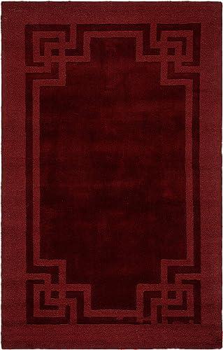 Safavieh Martha Stewart Collection MSR4614C Handmade Premium Wool Vermillion Area Rug 9' x 12'