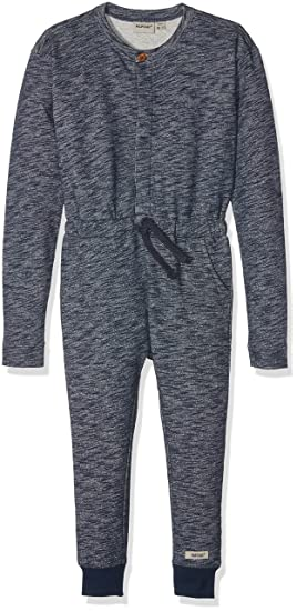 Papfar Slub Sweat-Overall Gots, Barboteuse Bébé Fille, (Blue Nights 287), 104 cm (Taille Fabricant: 4Y)