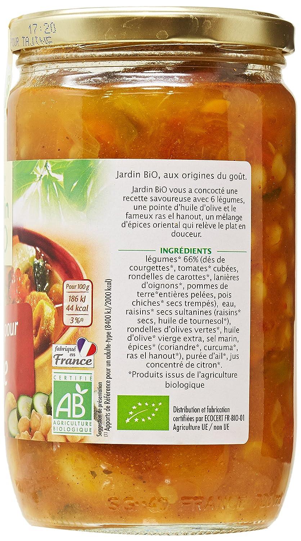 Jardin Bio L/égumes pour Tajine 650 g Lot de 3