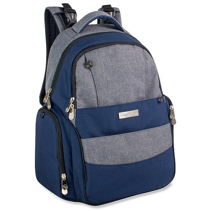 Fisher-Price Skye Diaper Backpack - Blue/Gray