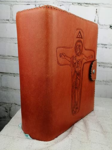 Funda Piel para Biblia Magnum de Comunidad/Cruz Unidad: Amazon.es: Handmade
