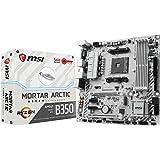 MSI Gaming AMD Ryzen B350 DDR4 VR Ready HDMI USB 3 CFX micro-ATX Motherboard (B350M MORTAR ARCTIC)