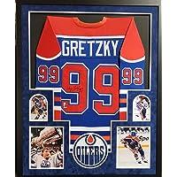 $499 » Wayne Gretzky Edmonton Oilers Autograph Signed Custom Framed Jersey WGA Gretzky Certified