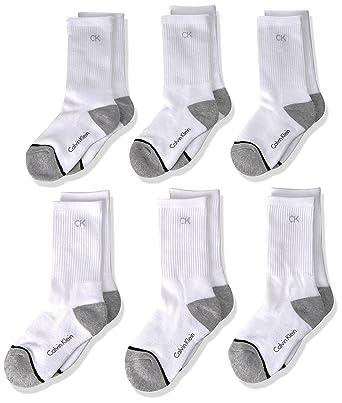 f1d4e3c50 Calvin Klein Boys' Athletic Crew Sock, 6 Pack