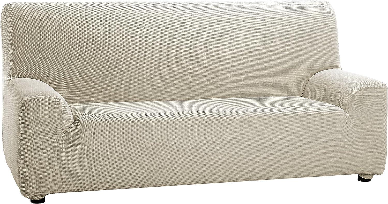 Martina Home Tunez - Funda elástica para sofá, Marfil, 4 Plazas (240-270 cm)