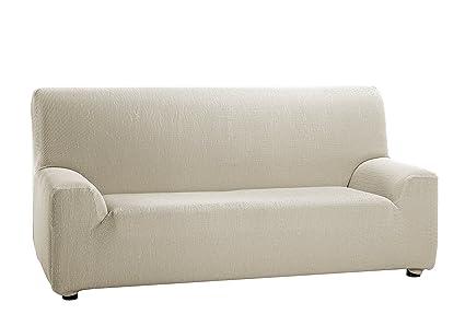 Martina Home - Funda Elástica para Sofá de 4 plazas, modelo TUNEZ, Color MARFIL, Medida desde 240 a 270 cm, tela