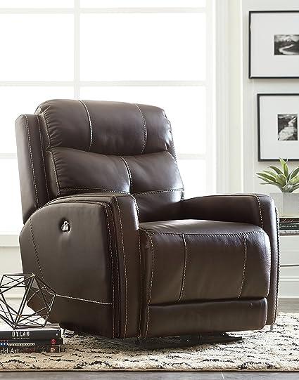 Fine Amazon Com Granger Clove Brown Faux Leather Manual Glider Machost Co Dining Chair Design Ideas Machostcouk
