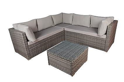 Amazon.com : Modern Outdoor Garden, Sectional Sofa Set with ...