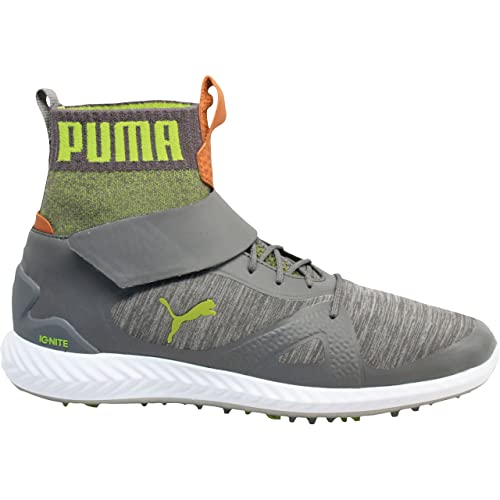 da970c6dcc7784 PUMA Men s Ignite PWRAdapt Hi-Top Shoes Quiet Shade Quiet Shade Acid Lime
