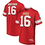 1efdd2084 Joe Montana San Francisco 49ers Hall of Fame Big   Tall Hashmark Jersey T -Shirt
