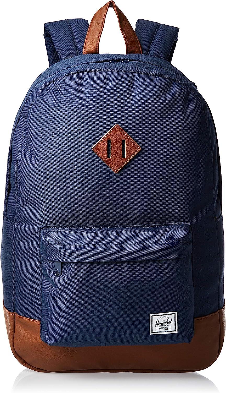 Herschel Heritage Backpack Mochila Tipo Casual, 46 cm, 21.5 Liters, Azul (Navy/Tan)