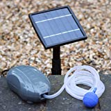 Aérateur Solaire Bassin 1,5W - Oxygénateur Solaire, Pompe à Air pour Etang, Jardin de PK Green