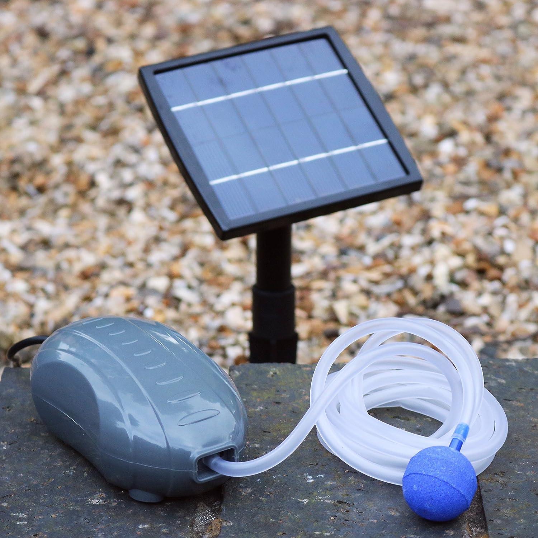 1,5 W Solar Teichbelüfter Sauerstoffpumpe Luftpumpe für Gartenteich - Pumpe für Garten, Teich, Aquarium von PK Green PKSAP