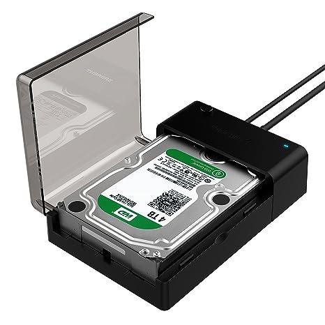 Sabrent Estación de acoplamiento plana del disco duro externo USB 3.0 a SATA para discos duros de 2.5 o 3.5 pulgadas, SSD [Soporte UASP] (EC-DFLT)