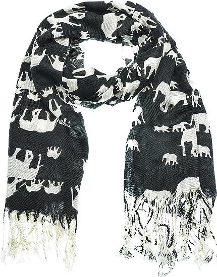 Elephant Scarf Animal Printed Fashion Women/'s Ladies  Wrap Shawl Christmas Gift