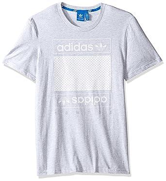 404cd1c24164 adidas Originals Men's Tops Graphic Tee, Light Grey Heather/Mesh Box Logo,  Large: Amazon.co.uk: Clothing