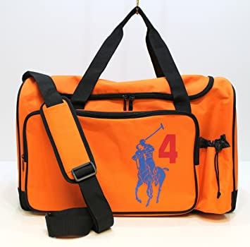c63b2b1b84e1 RALPH LAUREN THE BIG PONY DUFFLE BAG IN  4 ORANGE  Amazon.co.uk  Beauty